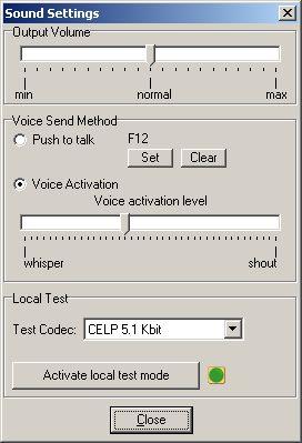 TeamSpeak 2 client RC2